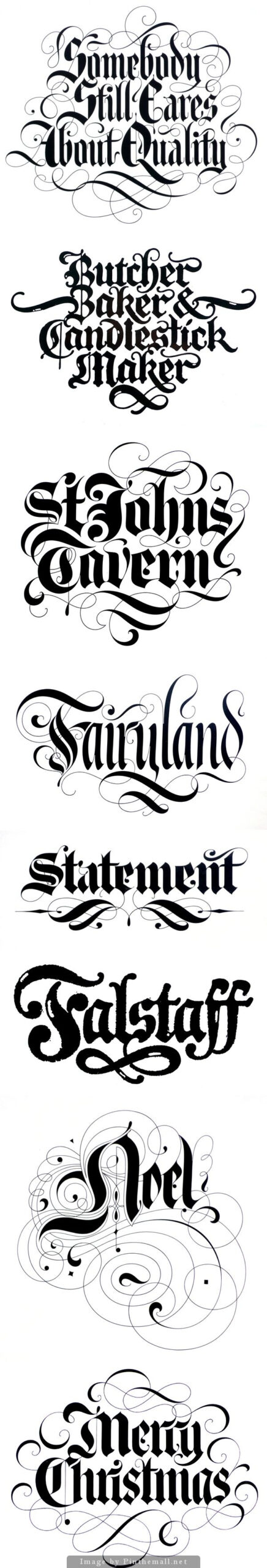 Blackletter Scriptdavid Quay | Desenho De Letras À Mão