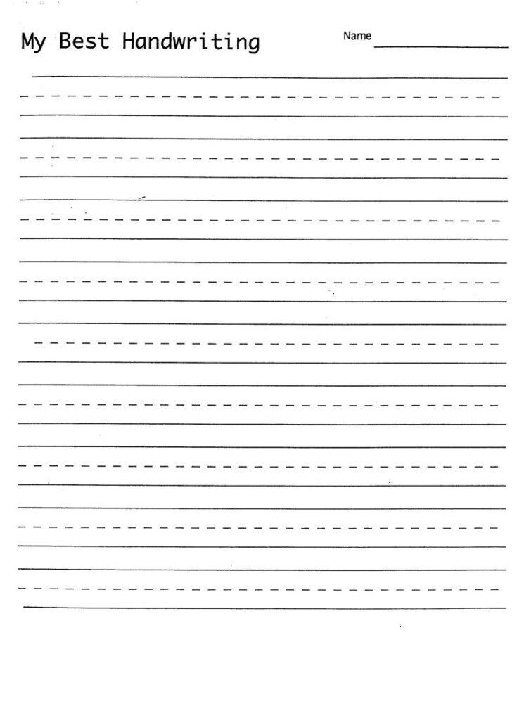 Blank Hand Writing Sheet | Handwriting Practice Sheets