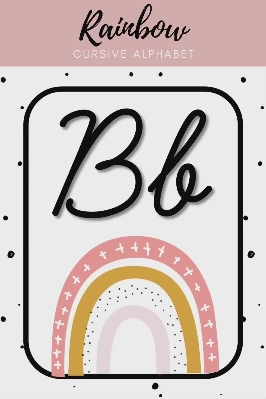 Boho Rainbow Cursive Alphabet [Video] [Video] In 2020 | Cursive Alphabet,  Cursive Alphabet Printable, Alphabet Display