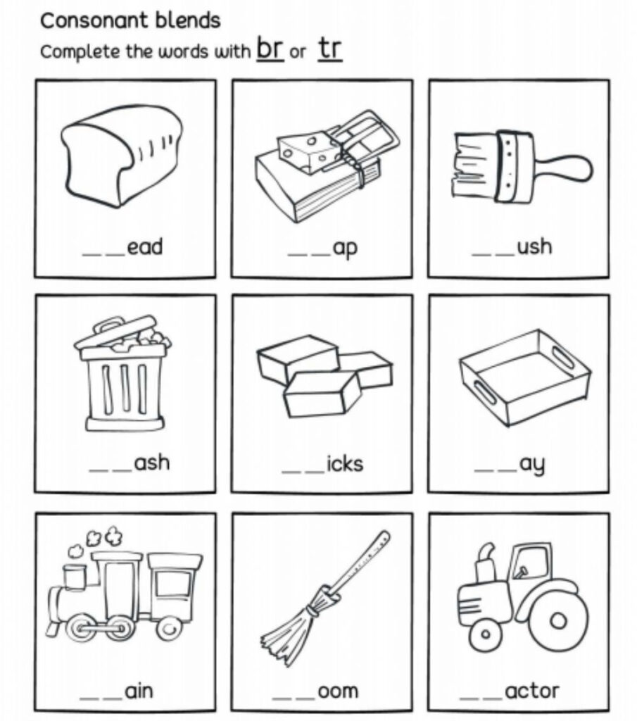 Br Or Tr   R Consonant Blends   Interactive Worksheet With Regard To Letter Blends Worksheets
