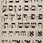 Broadside   Alphabet Table, For Learning Yiddish   Workmen's