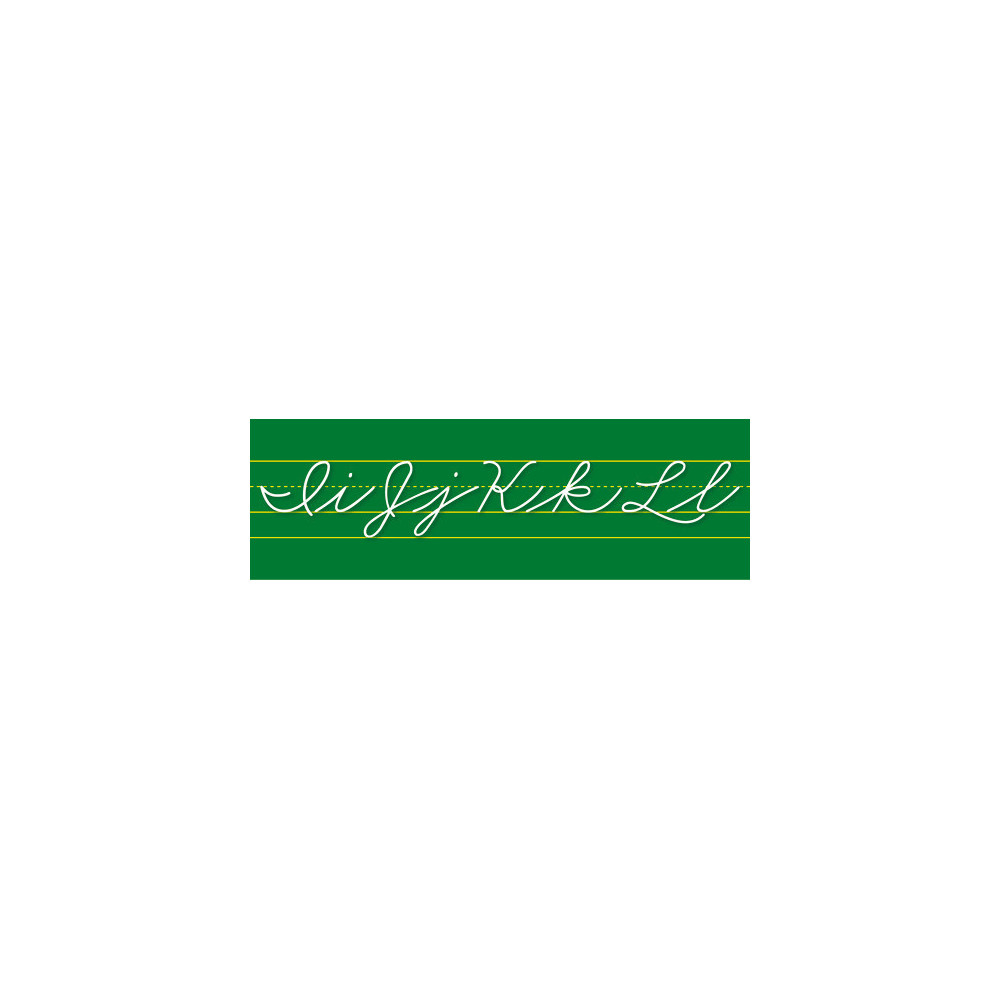 Bulletin Board Set: Traditional Cursive Alphabet Line