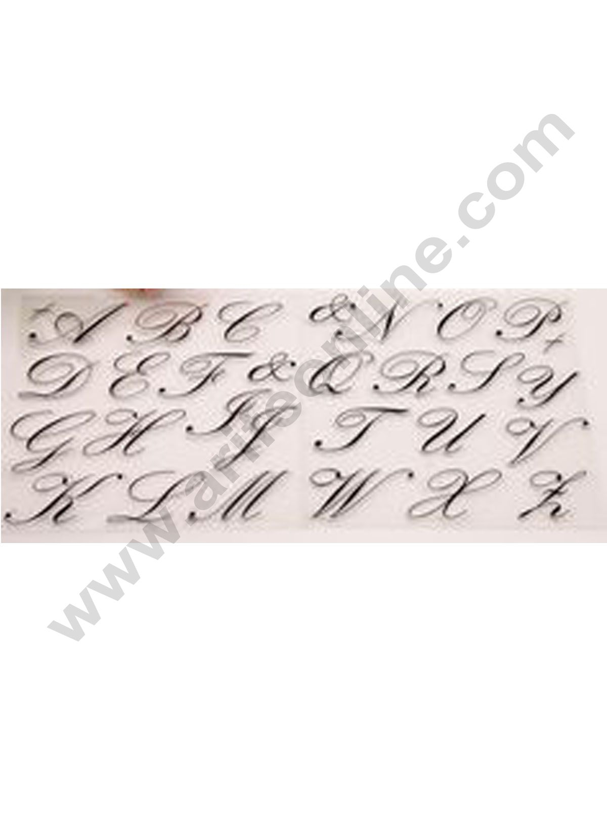Cake Decor 1Pc Silicone Cursive Alphabet Scrapbook Diy Rubber Stamp Clear  Stamp Transparent Stamp Handmade Card Stamp