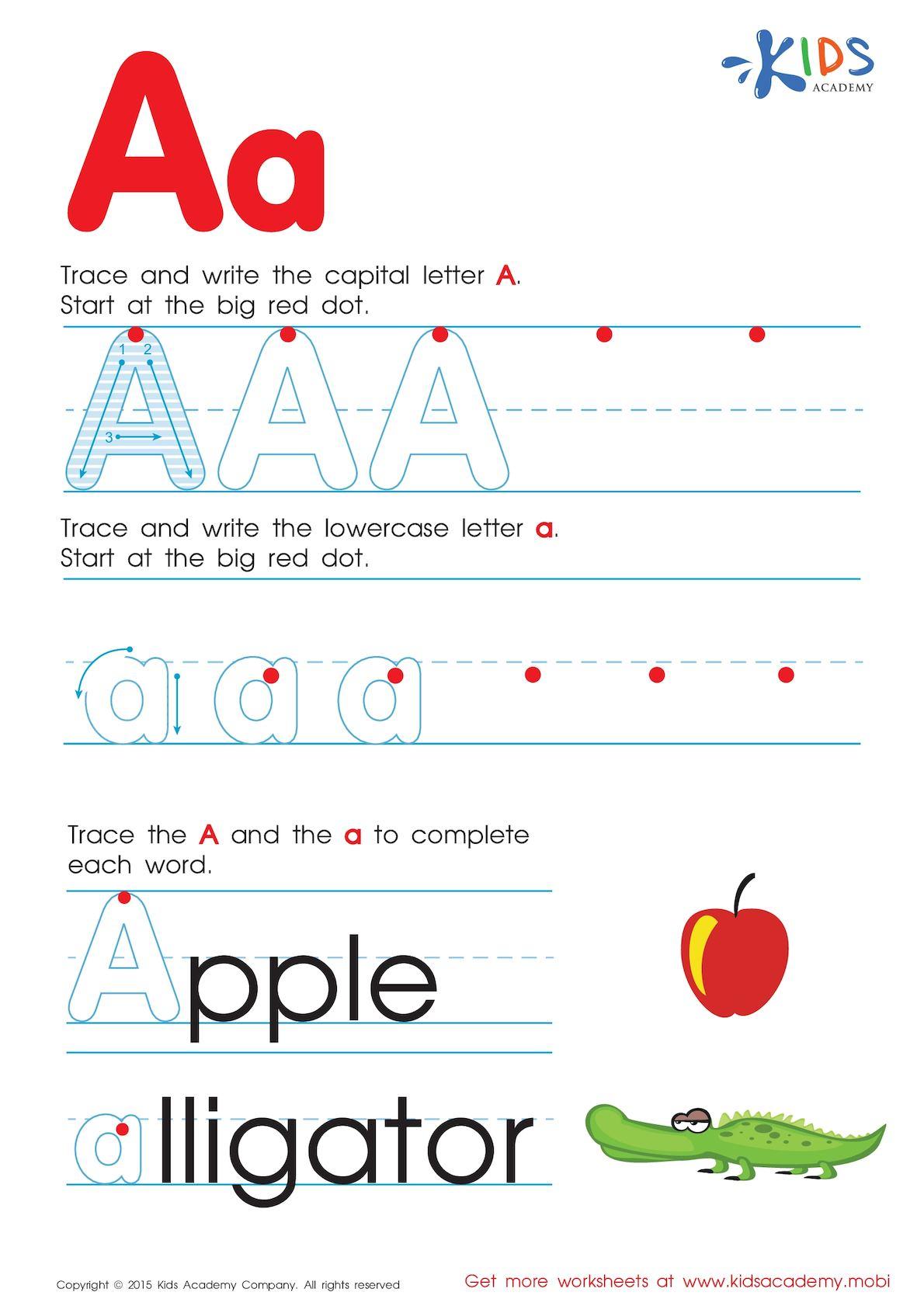 Calaméo - Free Alphabet Worksheets For Kids A Z with regard to Alphabet Worksheets A-Z Free