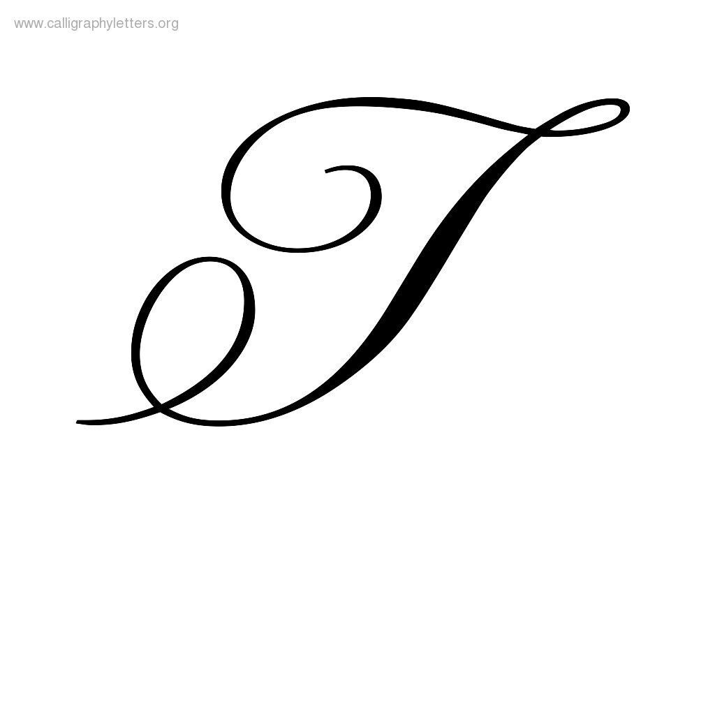 Calligraphy Letter T (1024×1024) | Tattoo Fonts Cursive