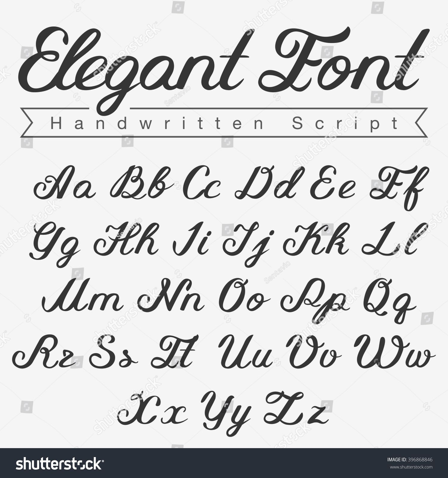 Capital And Lowercase Letters Cursive