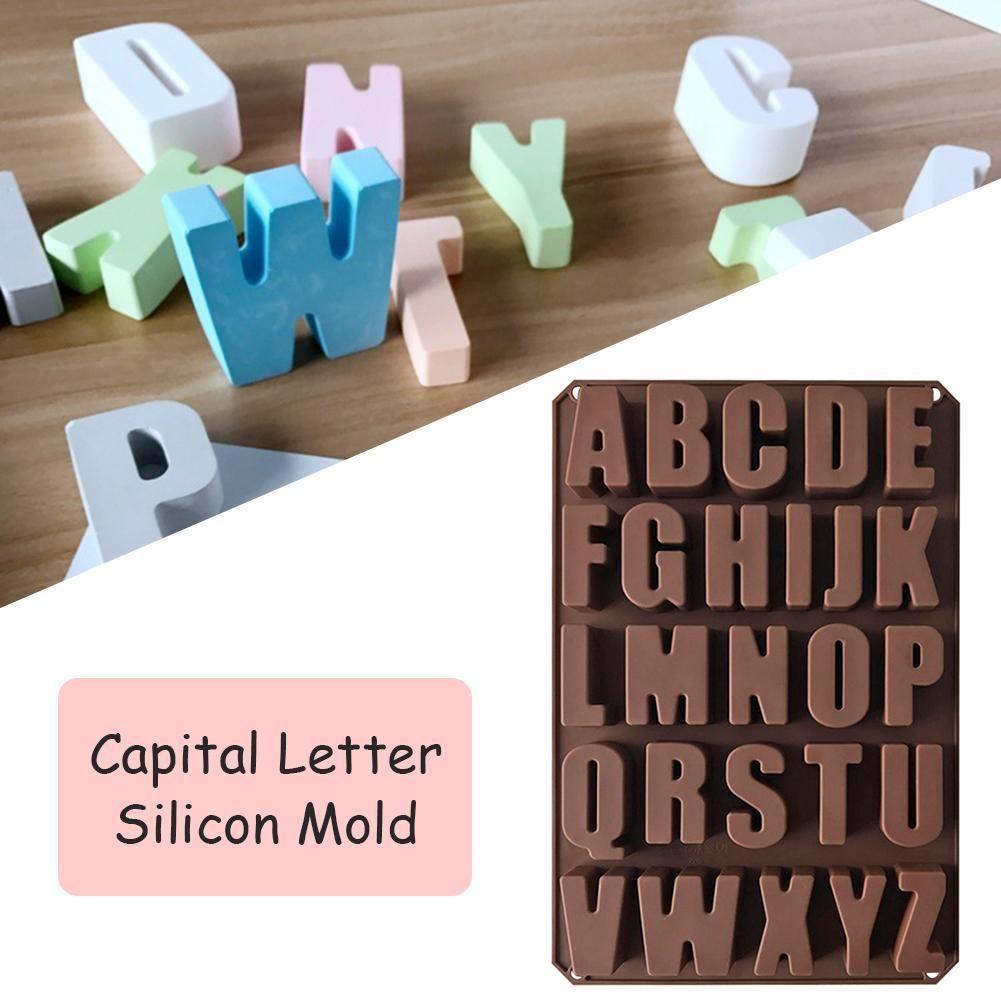 Capital Letters Silicone Mold Chocolate Fondant Cake