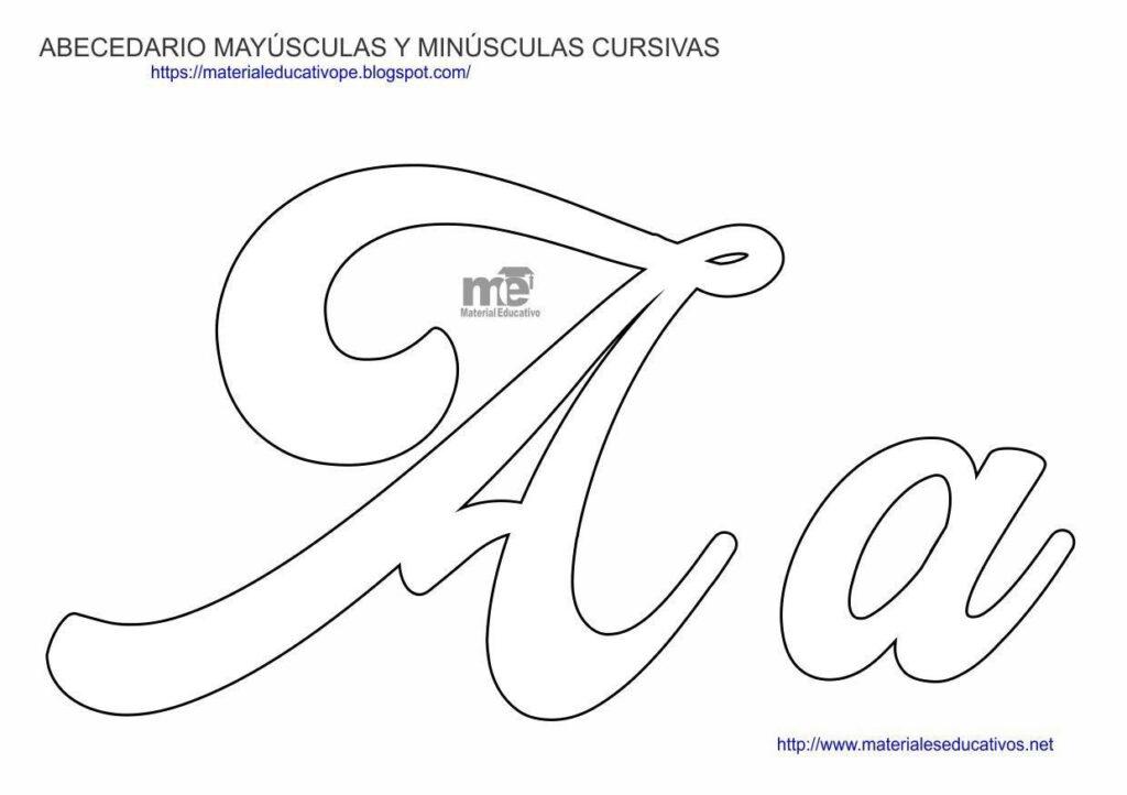 Capitalized Cursive Letter Molds   Capitalized Cursive