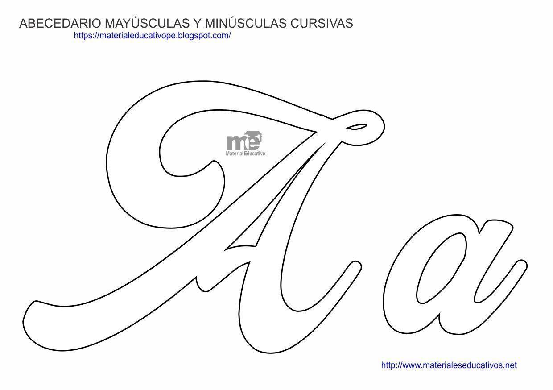 Capitalized Cursive Letter Molds - Capitalized Cursive