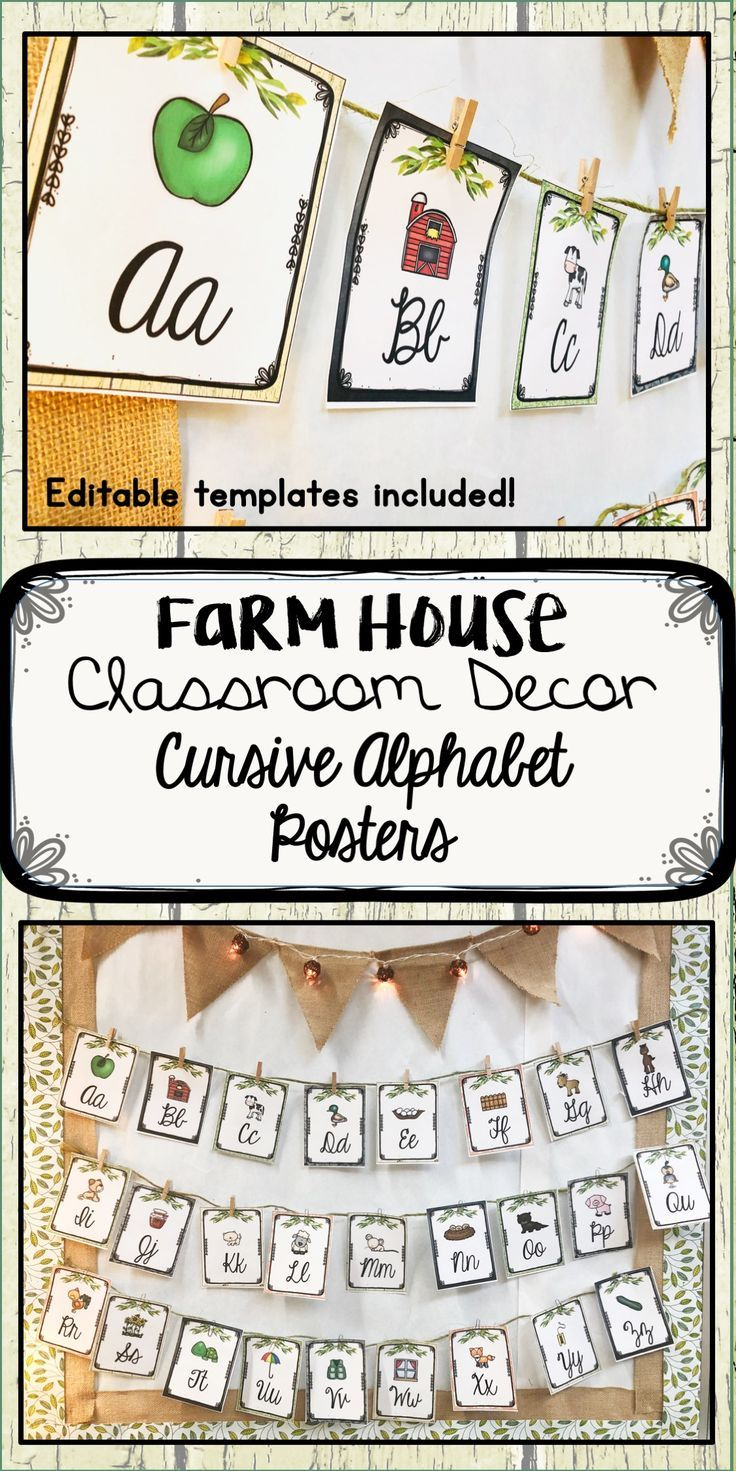 Check Out This Set Of Rustic, Farmhouse Alphabet Posters