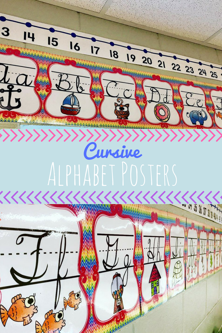 Colorful Cursive Alphabet Posters To Brighten Up Your
