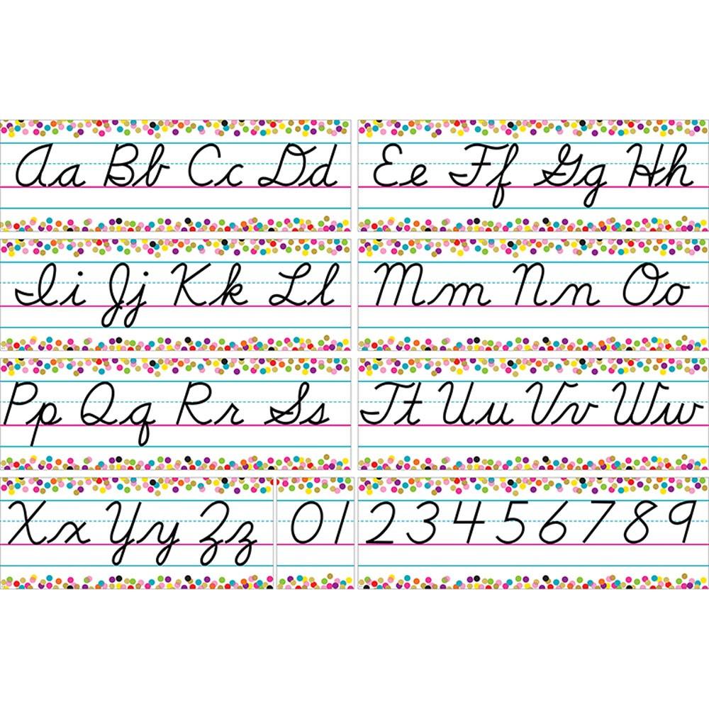 Colorful Vibes Cursive Writing Bulletin Board Set
