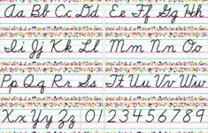 Cursive Alphabet Bulletin Board Set