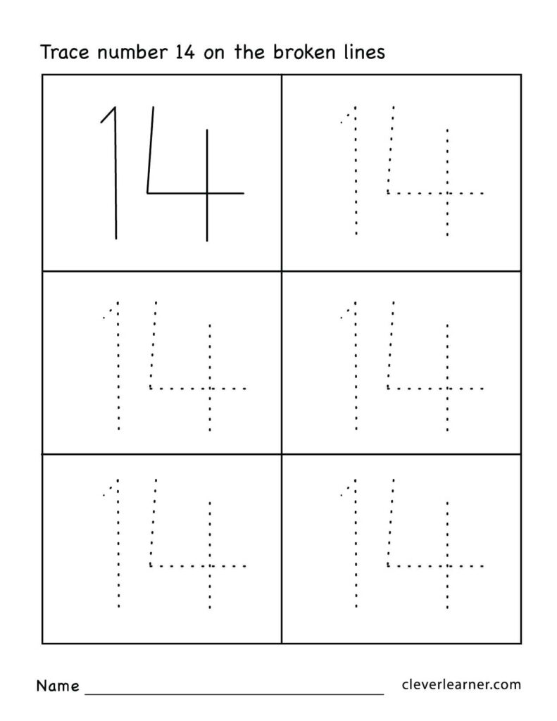 Coloring Book Printable Tracing Numbers School Name