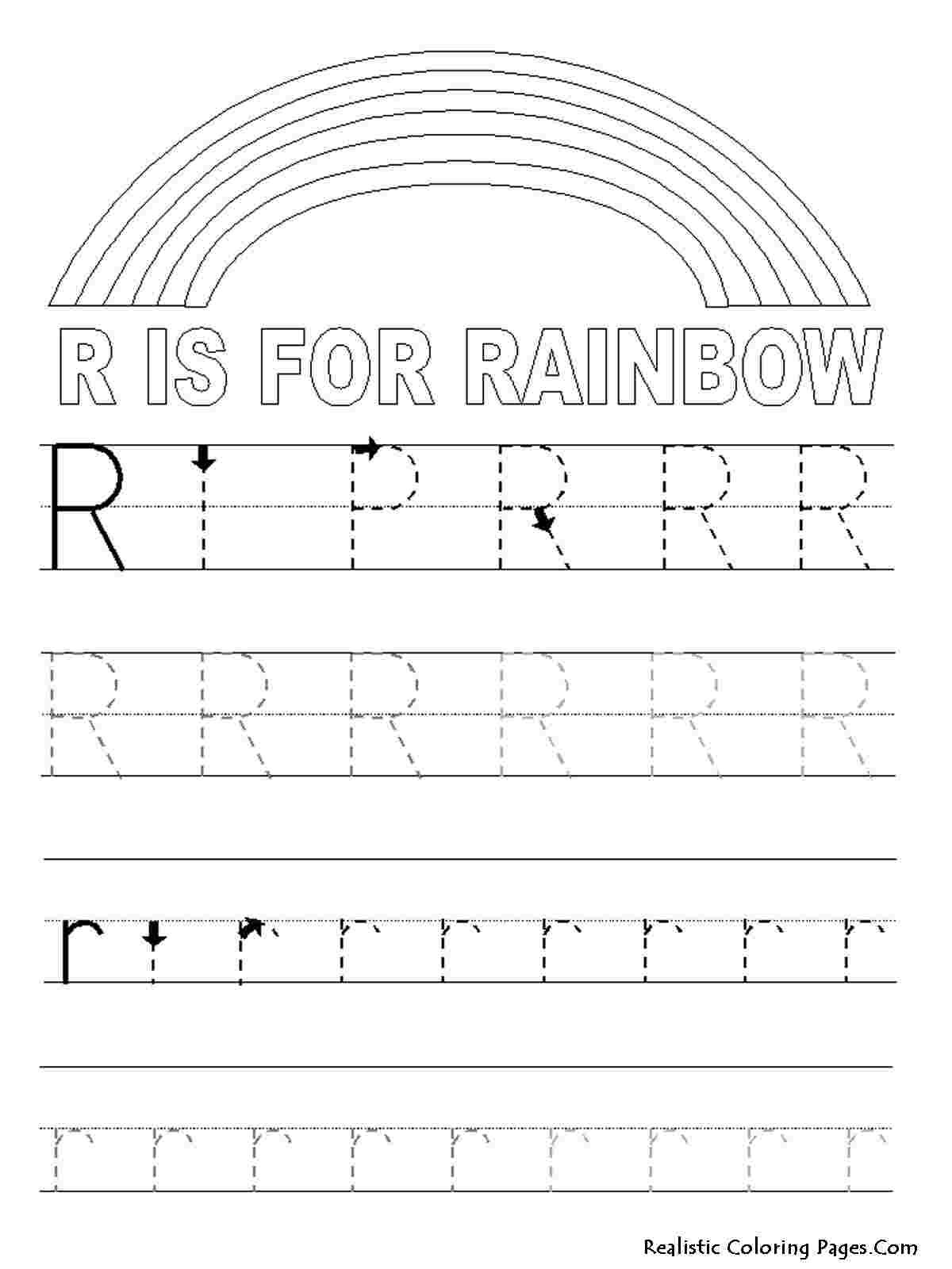 Coloring Festival: Free Letter Tracing Coloring Pages  More inside Alphabet Tracing Coloring Pages