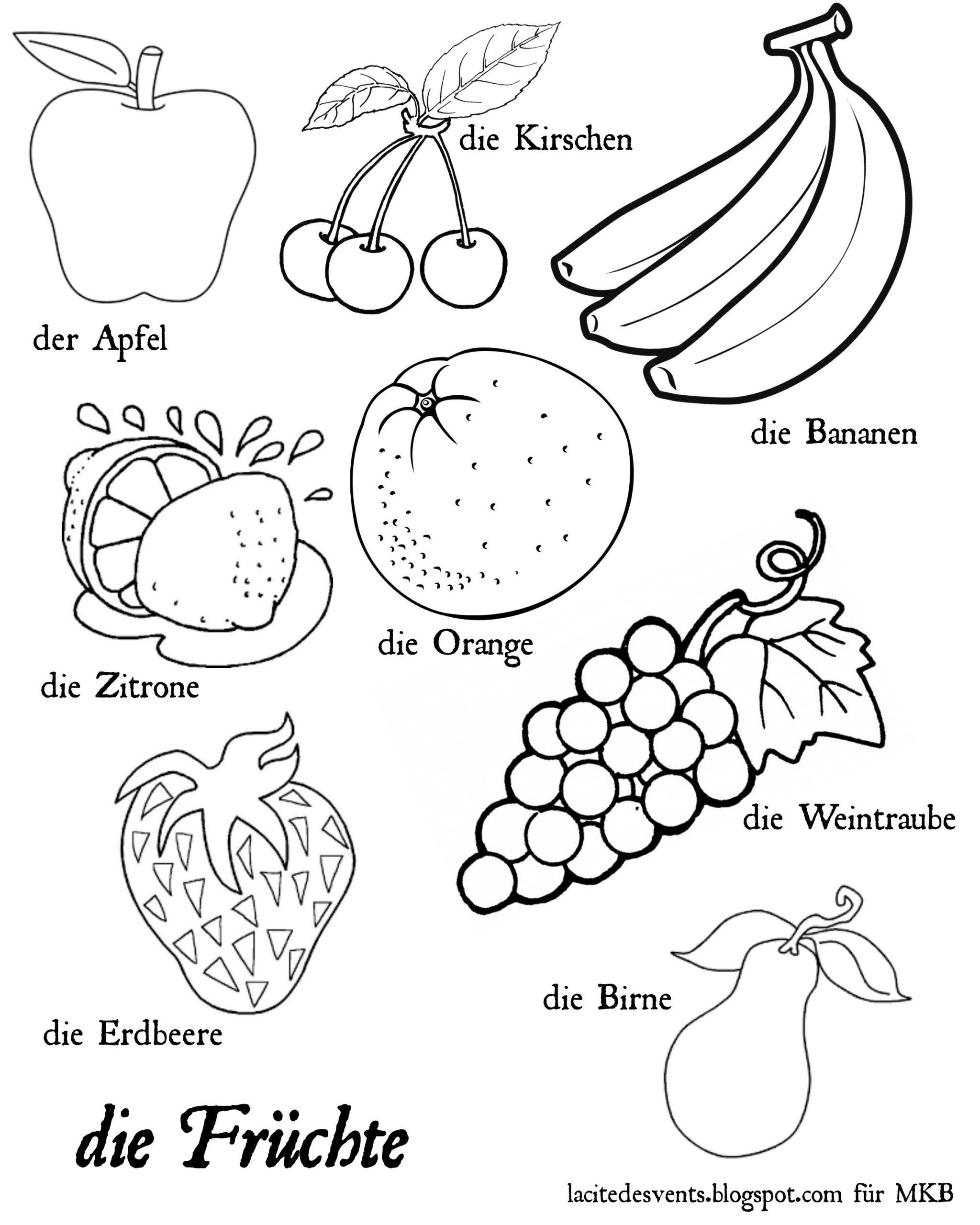 Coloring Fruits And Vegetables Dialogueeurope Nursery