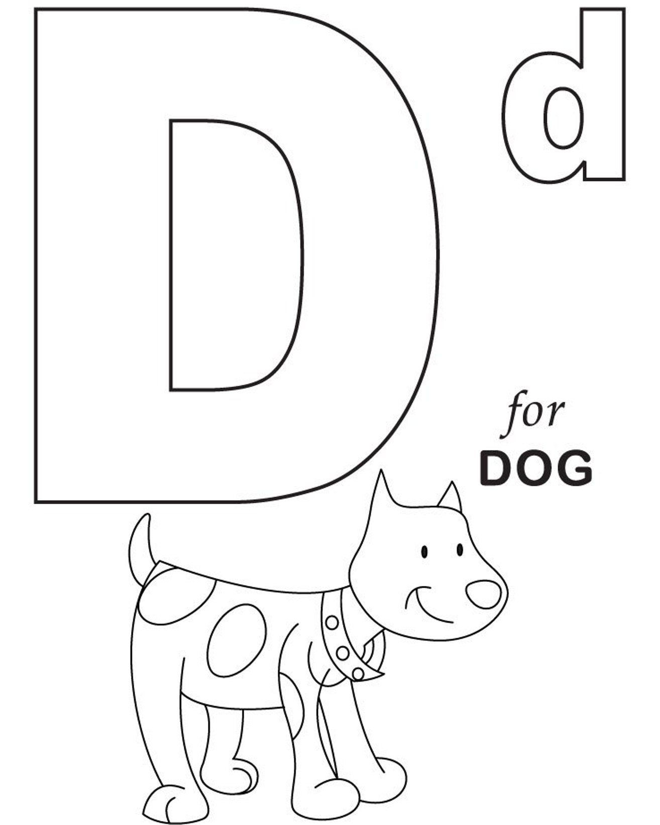 Coloring : Pages Alphabet For Dog Printable Letter throughout Alphabet Colouring Worksheets For Preschoolers