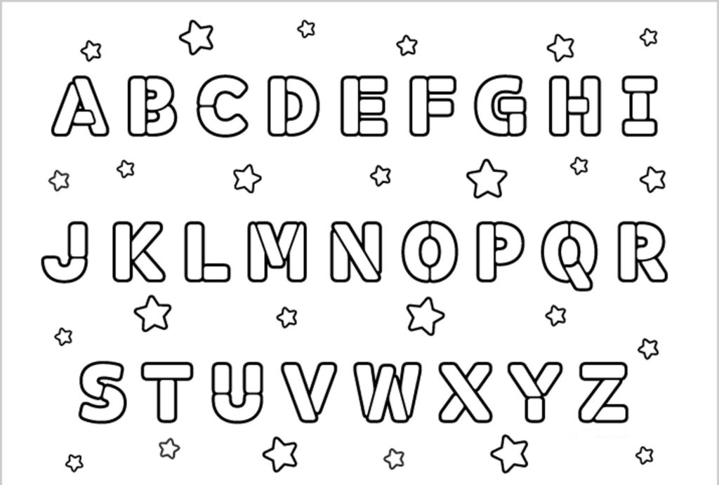 Coloring Sheet Pages For Kids Abcdefghijklmnopqrstuvwxyz With Regard To Alphabet Colouring Worksheets For Preschoolers