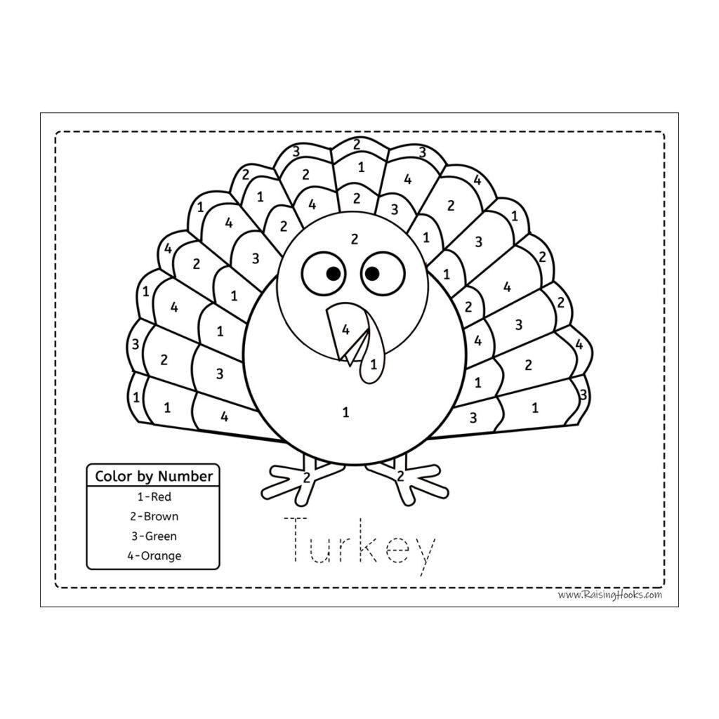 Colornumber Turkey   Raising Hooks
