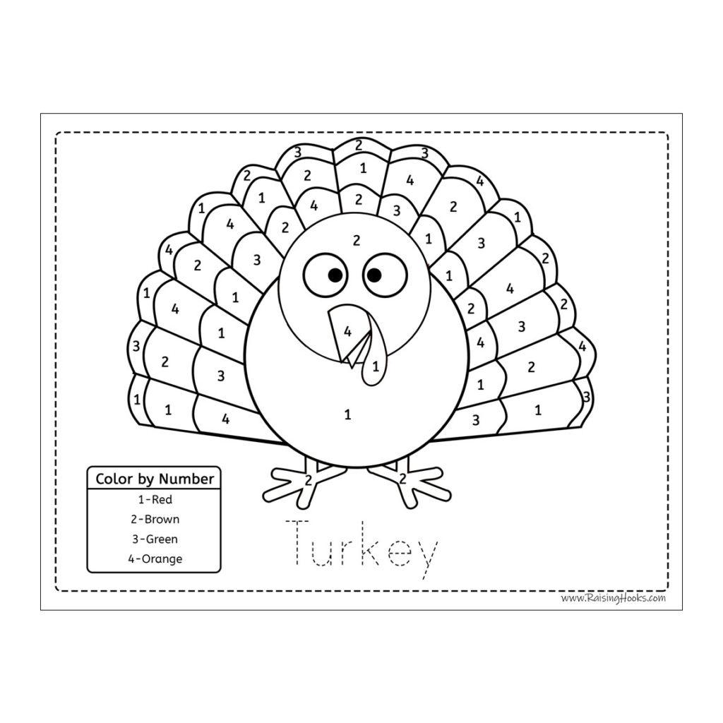 Colornumber Turkey - Raising Hooks