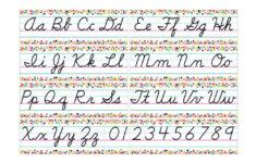 Cursive Alphabet Border