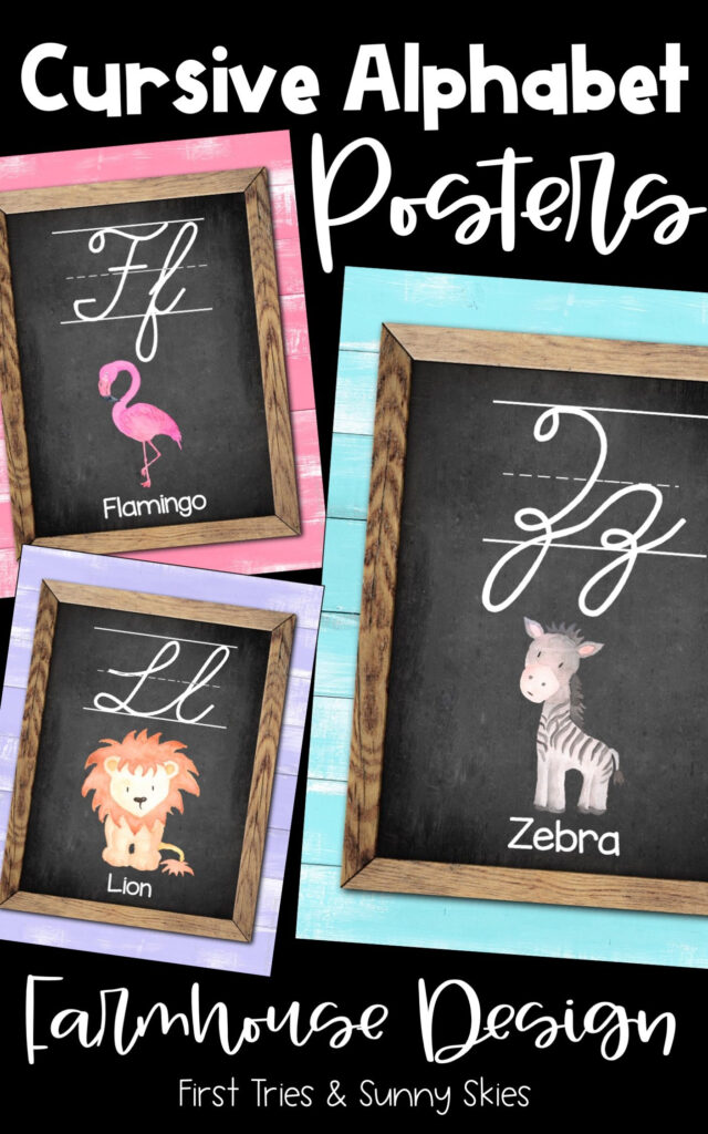 Cursive Abc Posters   Printable Alphabet Posters For
