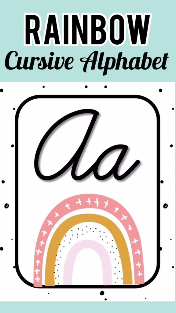 Cursive Alphabet Discover Rainbow Cursive Alphabet Posters