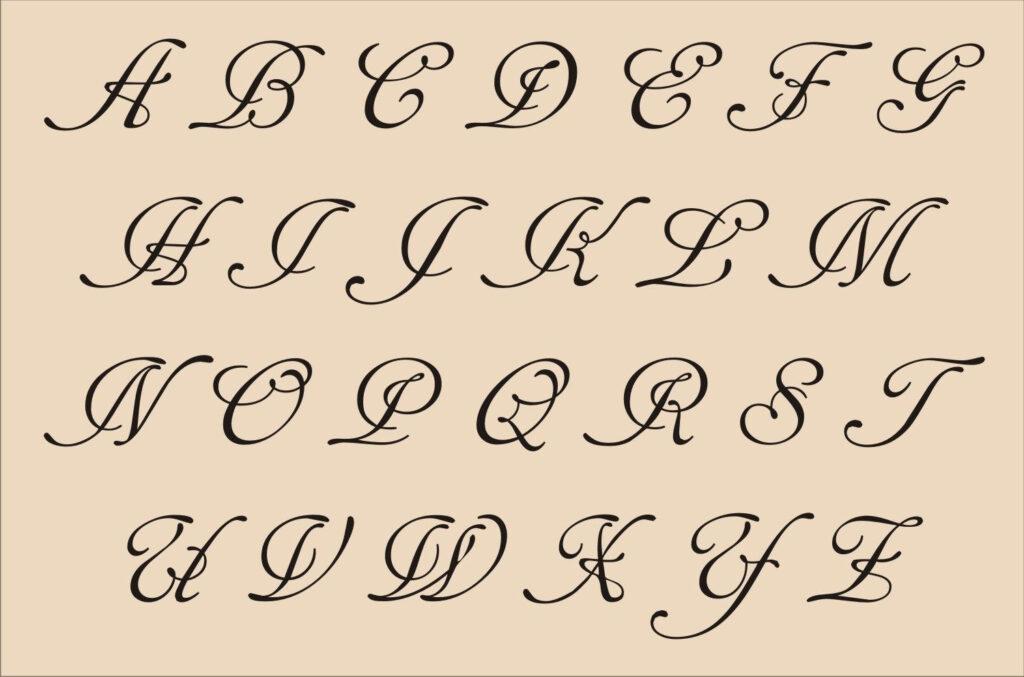 Cursive Alphabet Drawing Alphabet Letters In Fancy Cursive