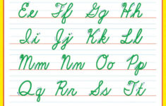 Cursive Alphabet For Classroom Wall