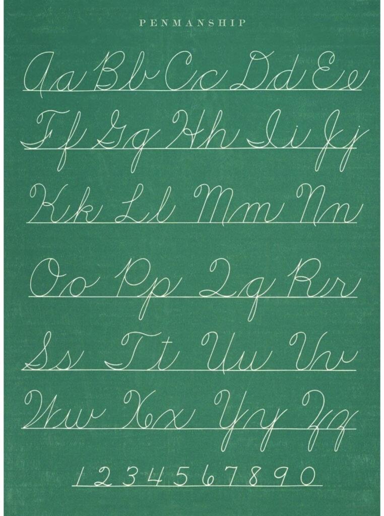 Cursive Alphabet In 2020 | Teaching Cursive Writing, Cursive