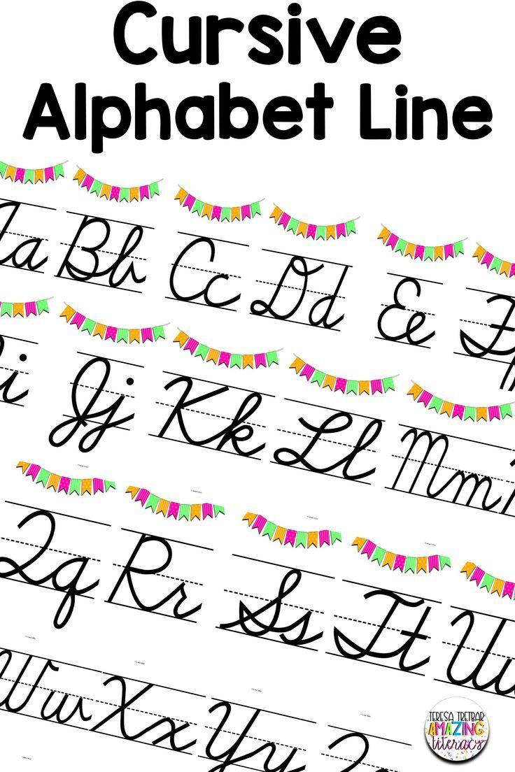 Cursive Alphabet Line | Alphabet Line, Cursive Alphabet