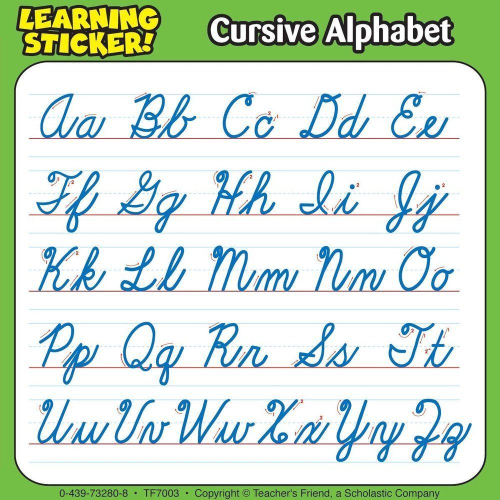 Cursive Alphabet Study Buddy Stickers - From Carson Dellosa