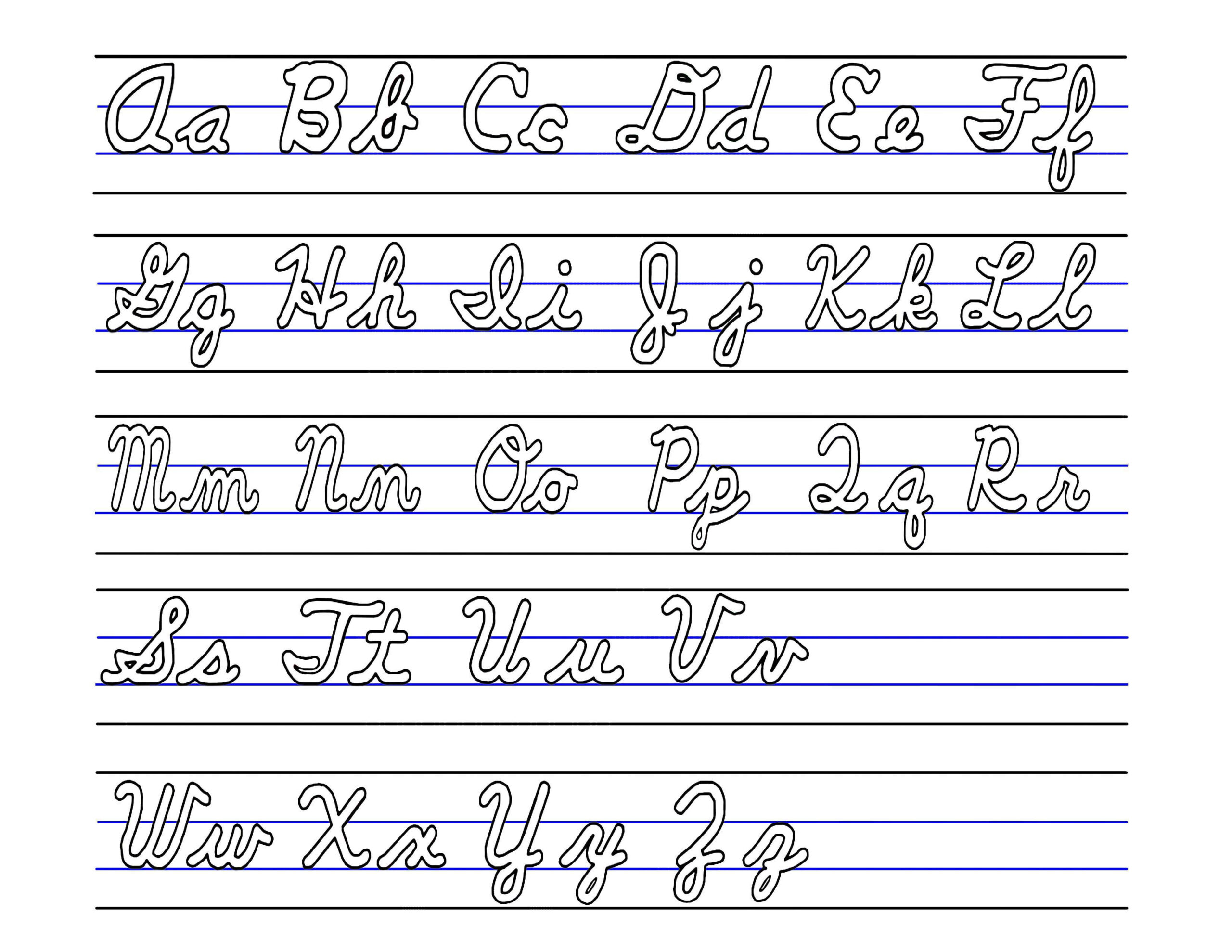 Cursive Alphabet Upper And Lower Case | Kids Activities