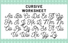 Alphabet In Cursive
