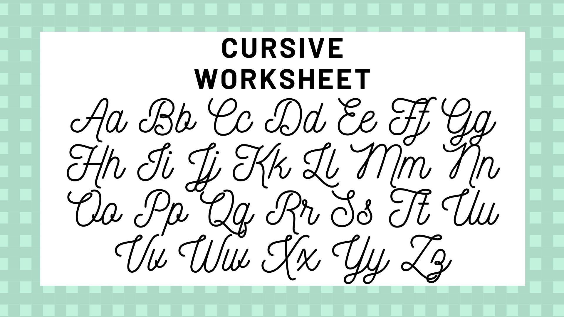 Cursive Alphabet In English   AlphabetWorksheetsFree.com