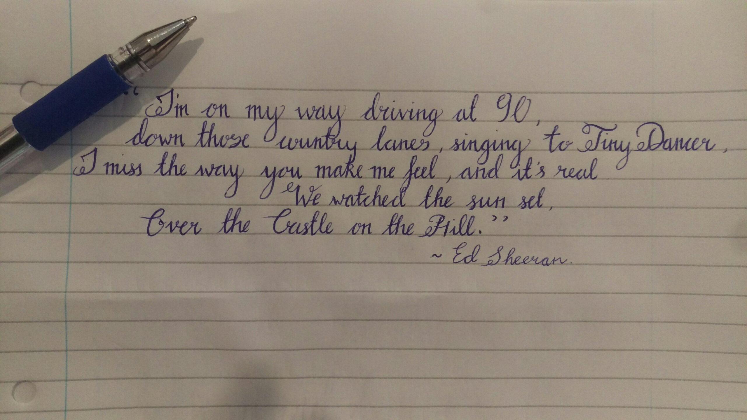 Cursive : Handwriting