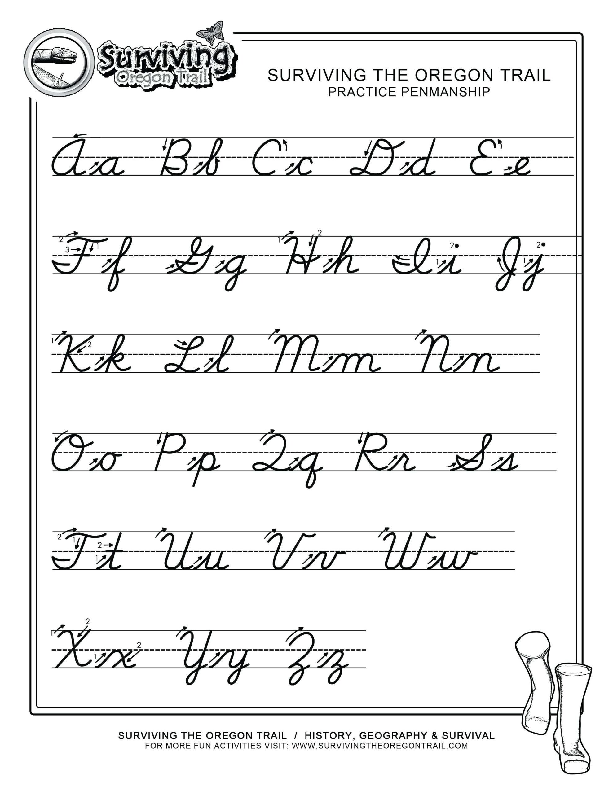 Cursive Letters A To Z To Print. Cursive Letters A-Z - Misc