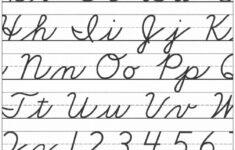Official Cursive Alphabet