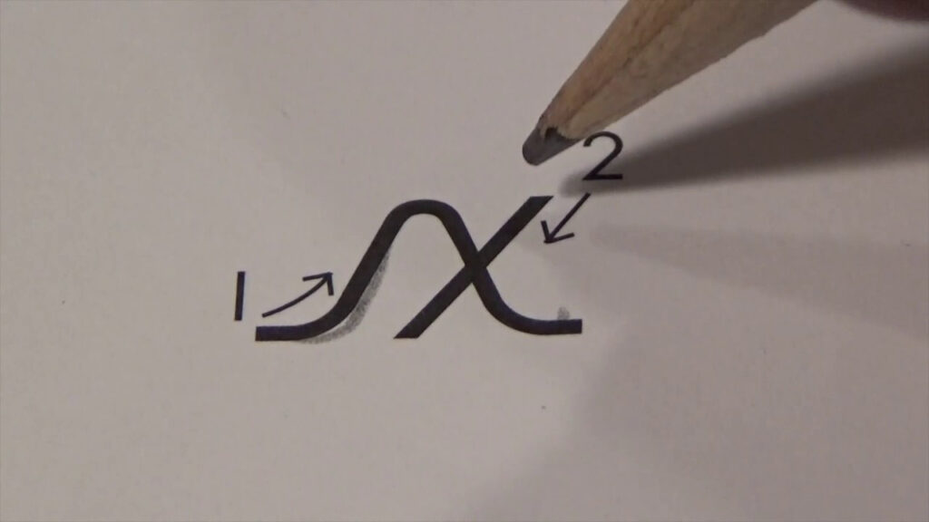 Cursive Lower Case Letter X With Ocean Sounds ( Handwriting, Writing,  Penmanship) With Ocean Sounds