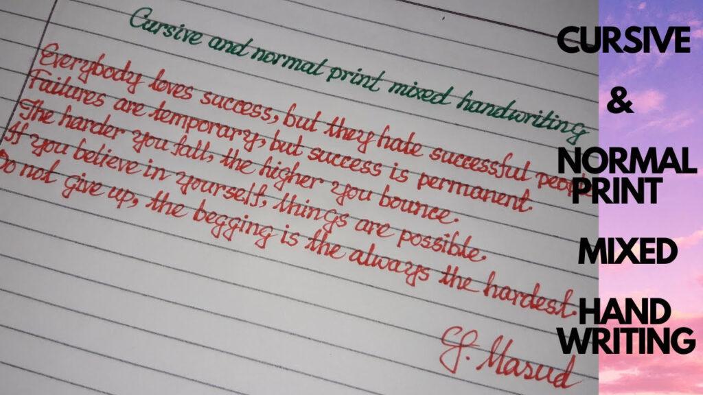 Cursive & Normal Print Mixed Hand Writing||Beautiful