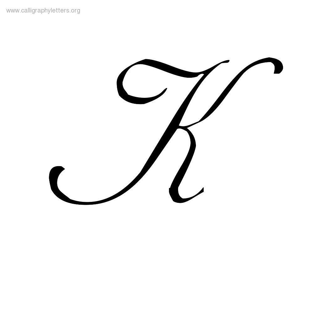 Cursive Small K