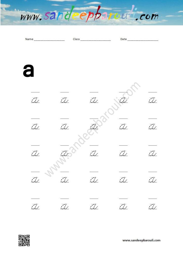Cursive Small Letters   Sandeepbarouli