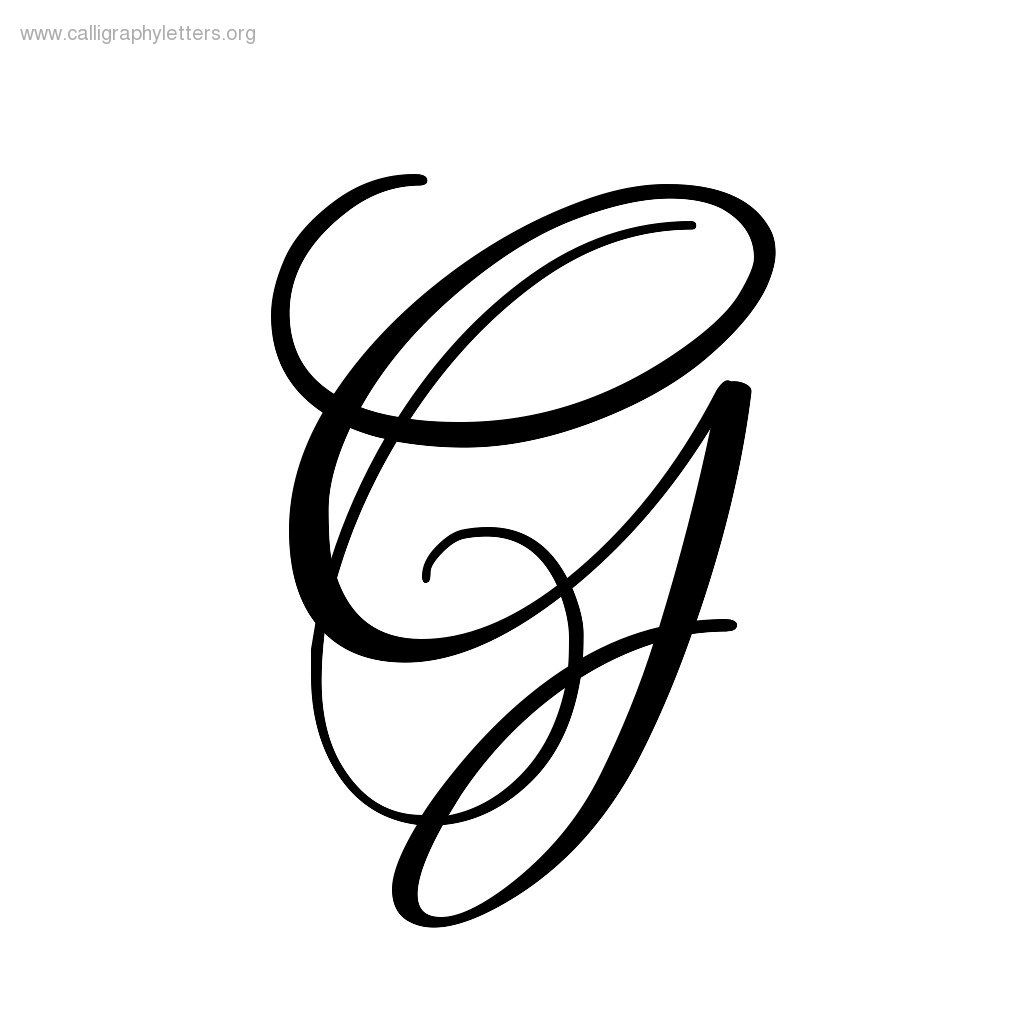 Cursive Uppercase Letter G