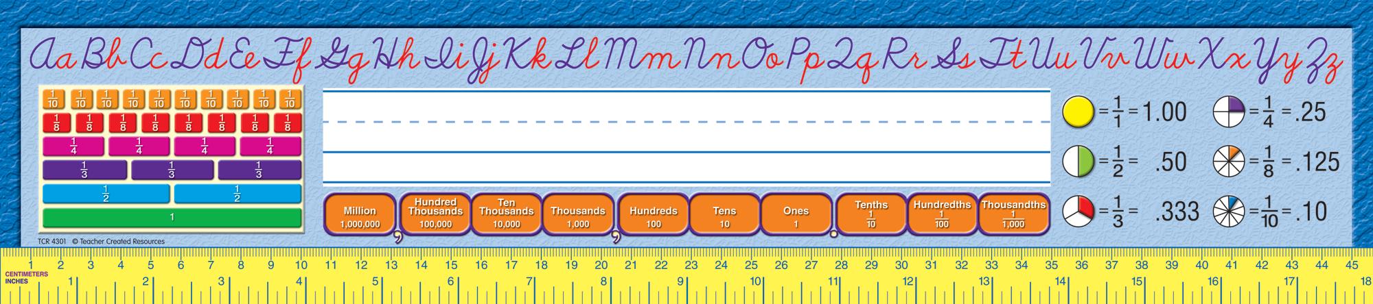 Cursive Writing 2 Super Jumbo Name Plates