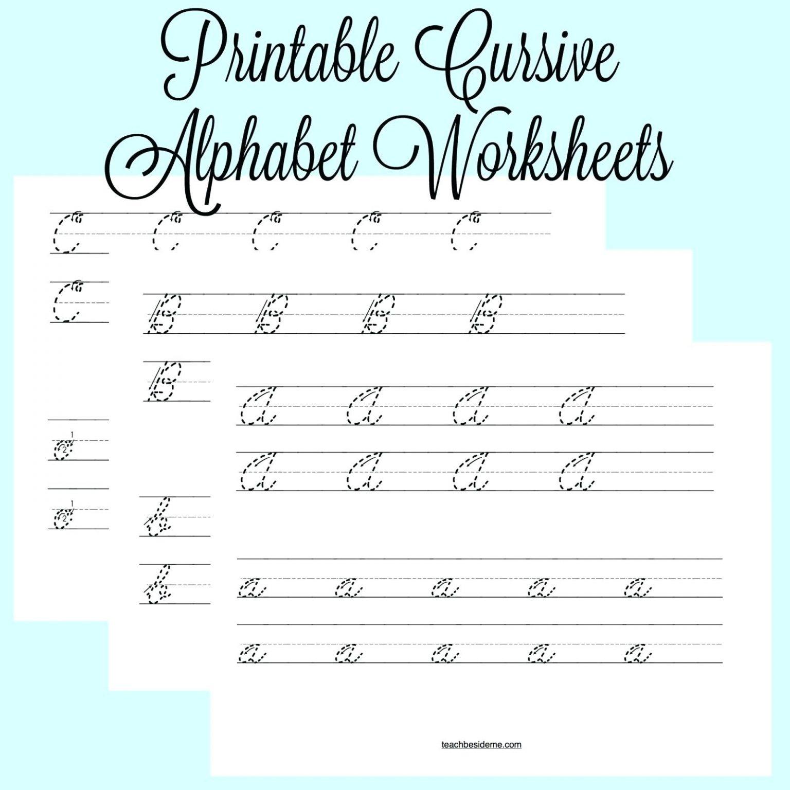 Cursive Writing Alphabets Worksheets Shoppingfoorme Club
