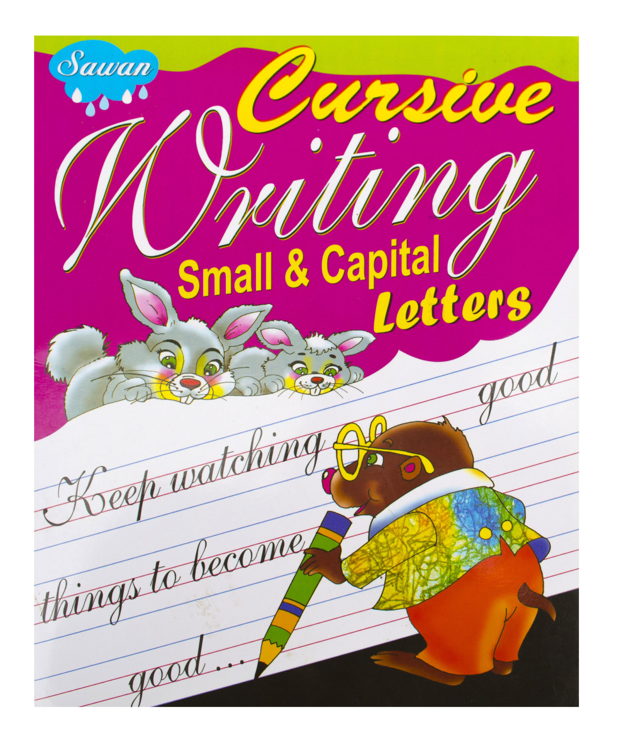 Cursive Writing Book - Small & Capital Letters