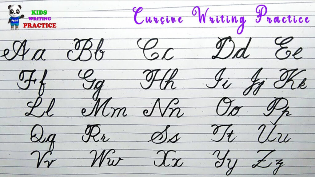 Cursive Writing For Beginners | Cursive Writing Capital And Small Letters |  Cursive Writing Practice