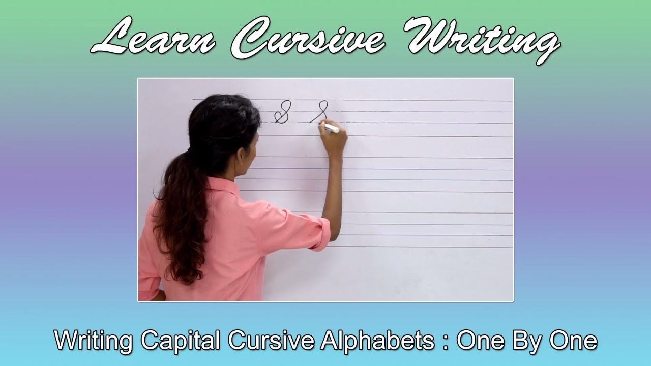 Cursive Writing For Beginners | How To Write Cursive Alphabets : Capital |  Handwriting Practice
