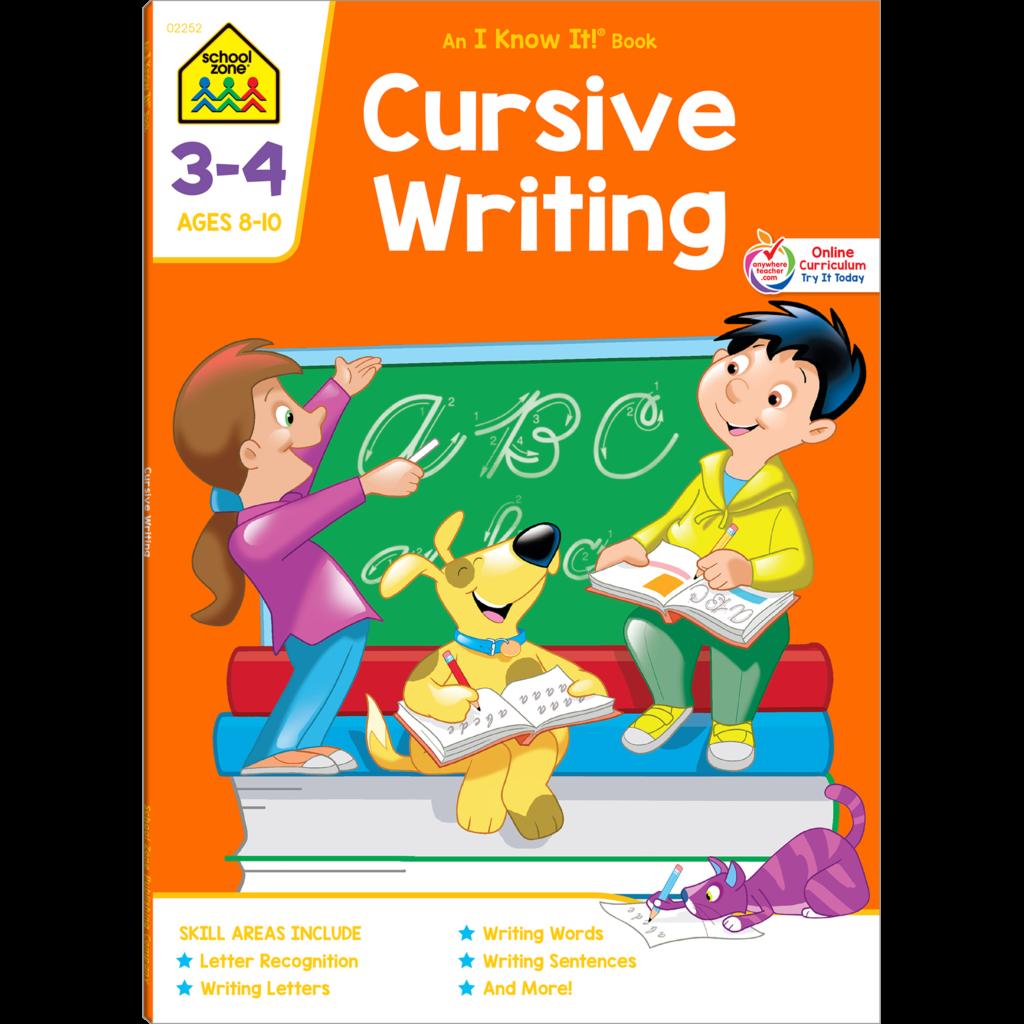 Cursive Writing Grades 3 4 Workbook