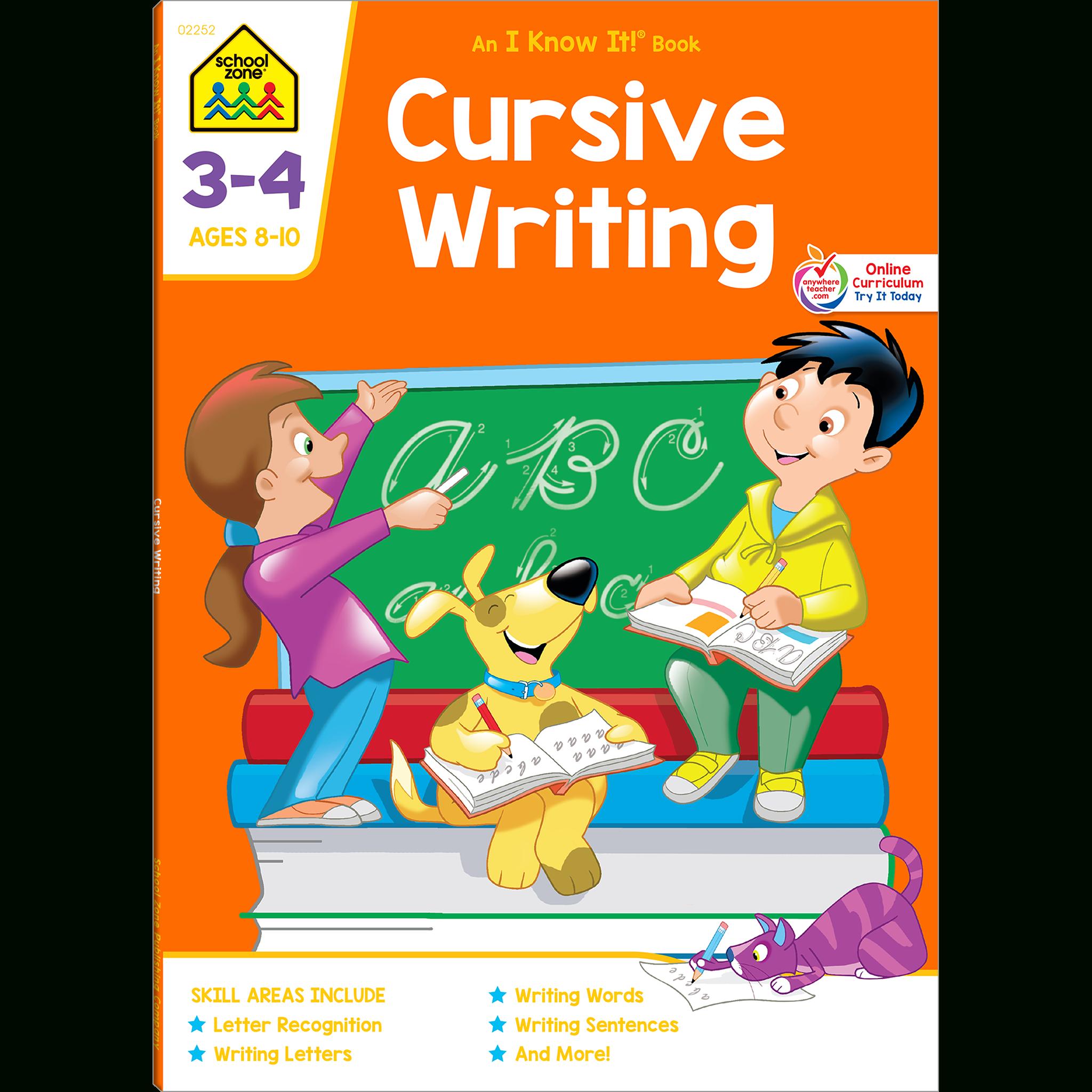 Cursive Writing Grades 3-4 Workbook